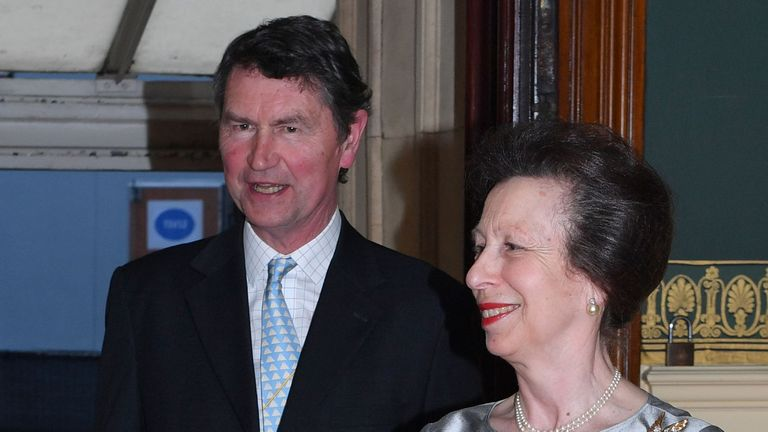 Princess Anne and Vice-Admiral Sir Timothy Laurence