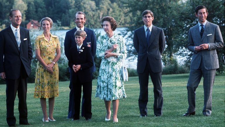 The royal family in Montreal, Canada.  Photo: Anwar Hussein