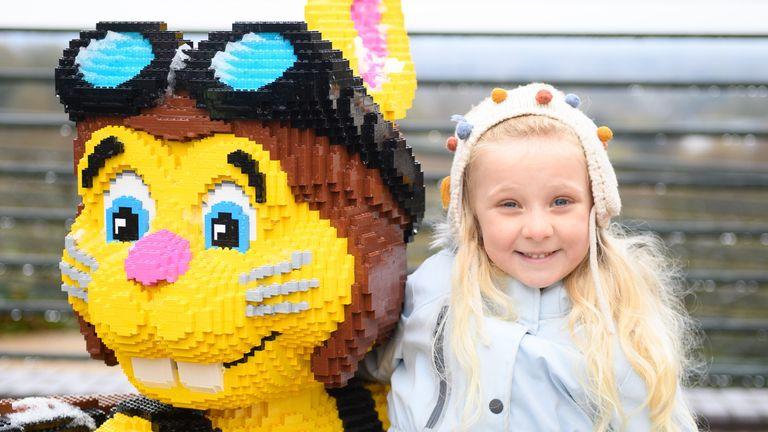 New friends make in Legoland, Berkshire