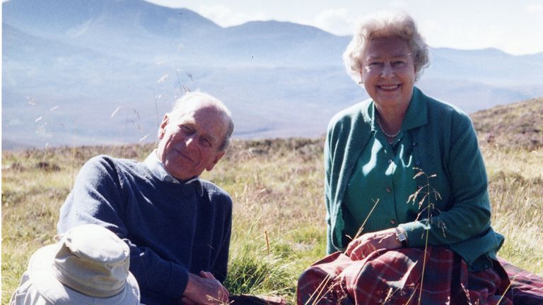 The Queen posted a photo of herself and her husband relaxing in the Scottish Highlands in 2003. Photo: The Countess of Wessex