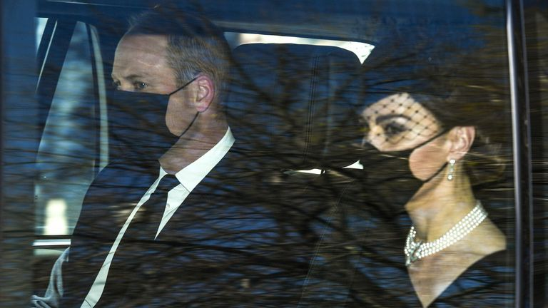 Prince William and Duchess Catherine of Cambridge leave Kensington Palace for Windsor Castle.  Pic: Beretta / Sims / Shutterstock April 17, 2021