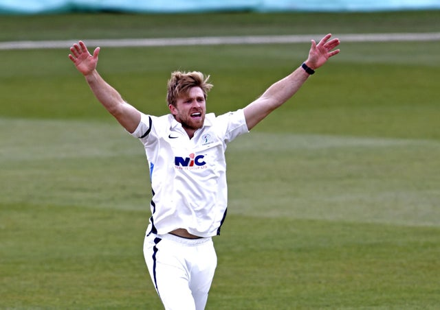 Yorkshire's David Willey appeals during day 2 of the LV = Insurance County Championship game between Kent and Yorkshire at Spitfire Ground, Canterbury (Image: Max Flego)