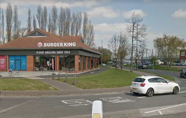 The incident took place in the Burger King parking lot in Shripney Road, Bognor