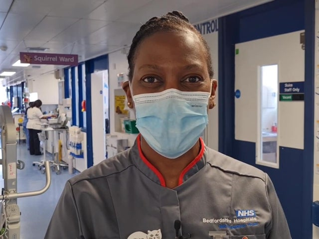 Marva Desir, Assistant Head Nurse of Children's Services, who works at Luton and Dunstable Hospital