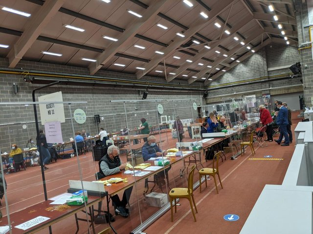 The socially distancing count took place in Thornes Park throughout Friday.