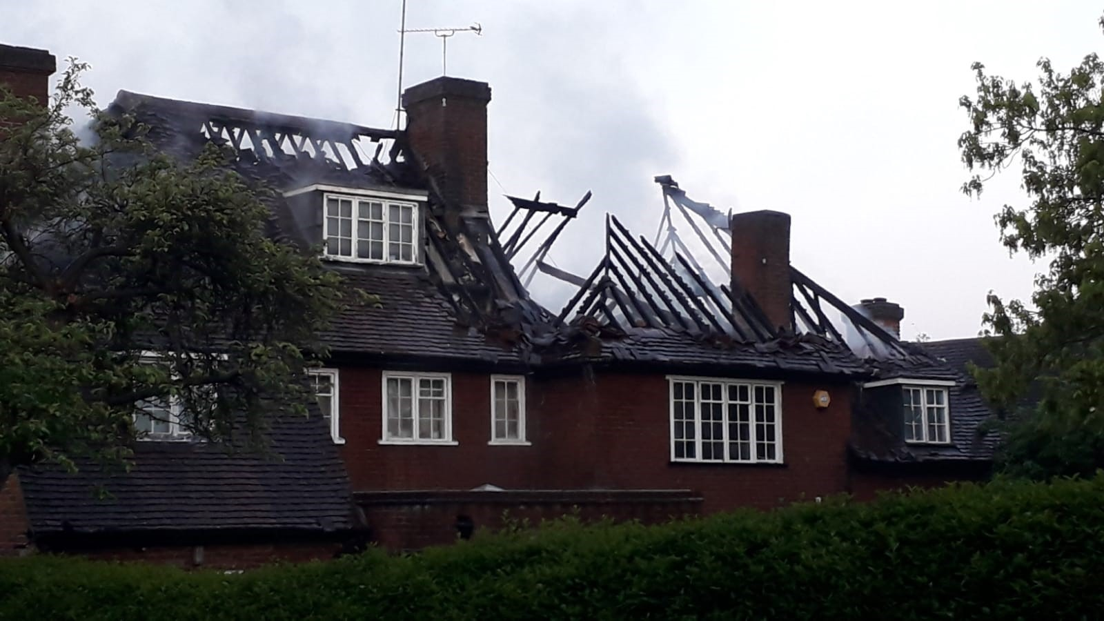 A fire broke out early this morning (Photo: London Fire Brigade)