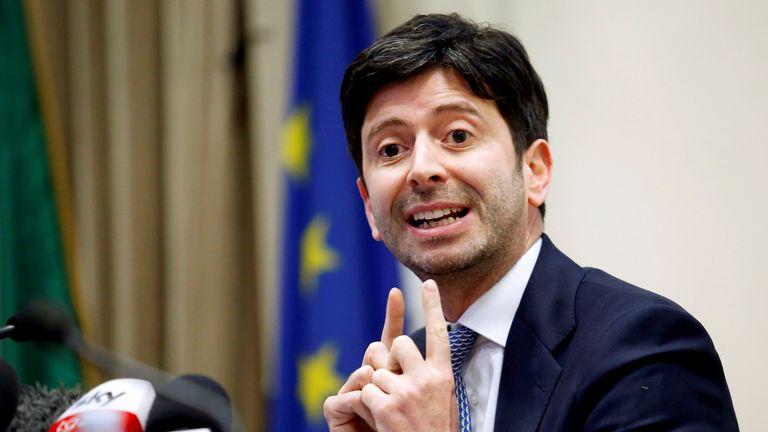 Italian Minister of Health Roberto Speranza