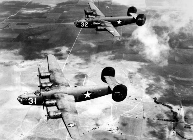 The Argus: US Air Force photo of a Consolidated B-24 Liberator taken in the 1940s