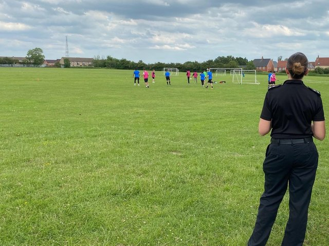 Inspector Sam Hunt arranges football matches
