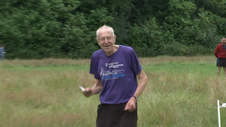 Brian Platt, 83, was happy to be back at Parkrun at Brabyn's Park, Marple Bridge
