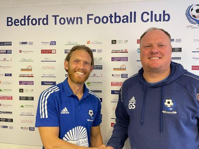 Craig MacKail-Smith with Bedford Town Manager Gary Setchell